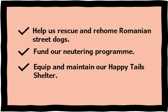 How a gift in your will helps | 1 Dog At a Time Rescue UK | Dedicated To Rescuing and Rehoming Romanian Street Dogs